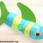 recycled craft: water bottle fish craft