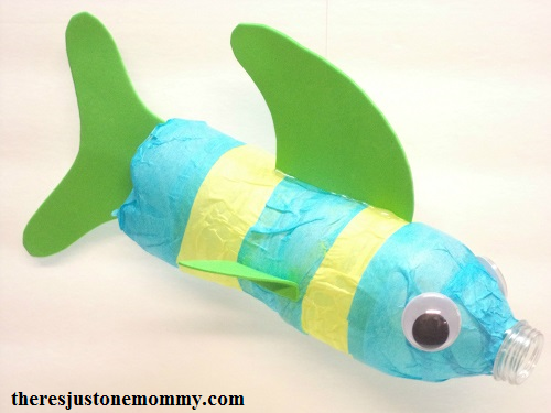 water bottle fish craft using a recycled bottle
