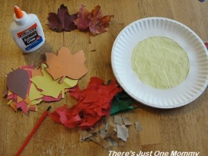 preschooler fall sun catcher craft