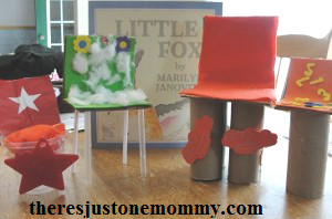 Little Fox book activity -- build a chair STEM challenge