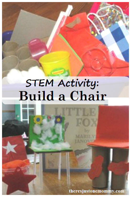 STEM Activity: build a chair for stuffed animals; book activity for Little Fox