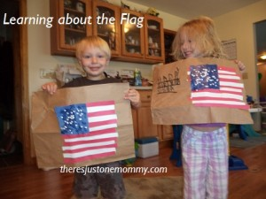 preschooler american flag craft