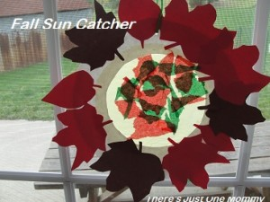 fall suncatcher craft