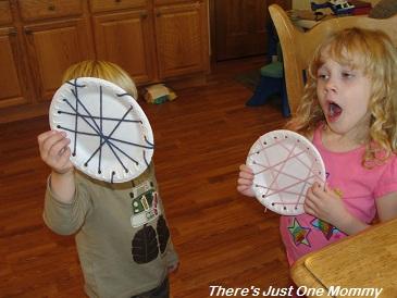 Paper Plate Spider Web & Pom-Pom Spider Craft