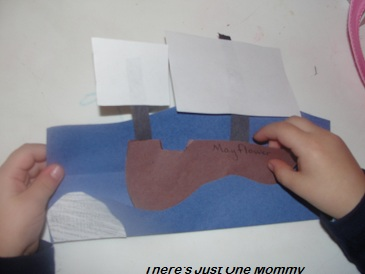 preschooler Mayflower craft