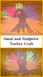 cute preschool Thanksgiving craft -- handprint turkey