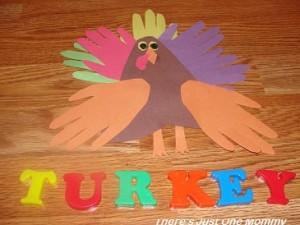 hand and footprint turkey
