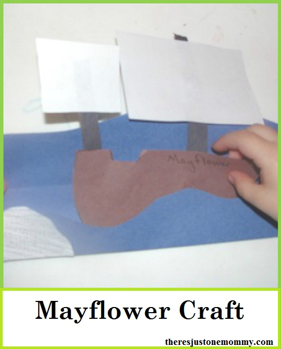 simple Mayflower craft -- toddler, preschooler Thanksgiving craft