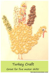 kids turkey craft -- perfect for working on fine motor skills