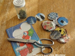 christmas card craft -- homemade ornament