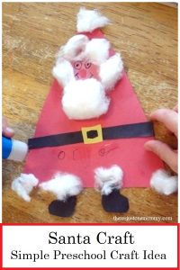 preschool Santa craft
