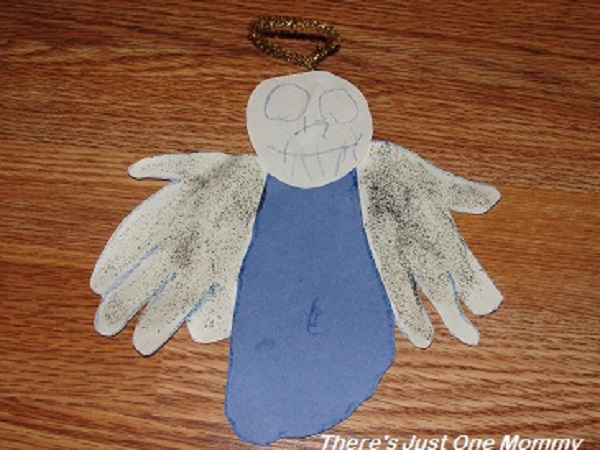 hand print angel craft