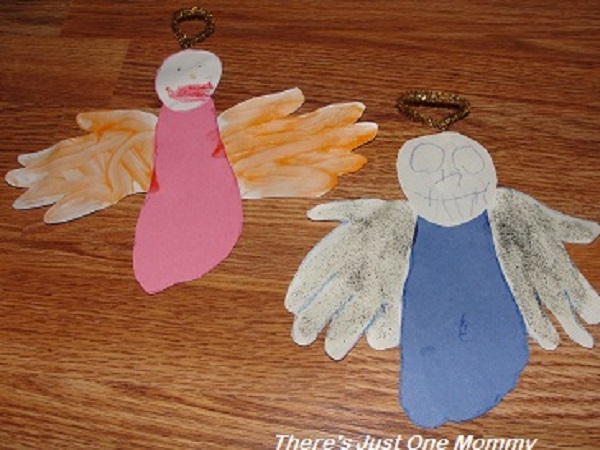 hand and footprint angel craft