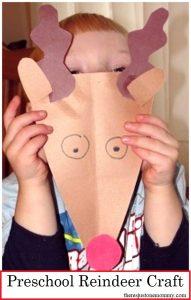 simple preschool reindeer Christmas craft