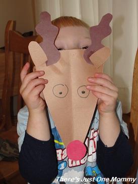 preschooler reindeer Christmas craft
