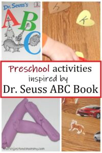 preschool Dr. Seuss ABC book activities