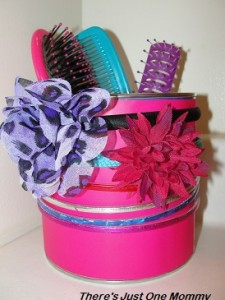 making a hair accesories organizer