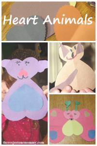 Simple Kids Valentine Craft: Heart Animals