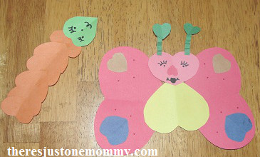 simple heart animal craft for Valentine's Day