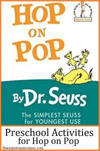 Dr Seuss Hop on Pop activities