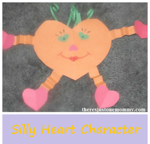 silly heart characters -- fun kids Valentine's Day craft