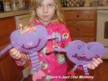 paper hear Valentine's craft