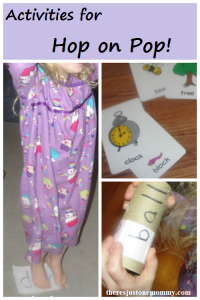 book activities for Dr. Seuss' Hop on Pop