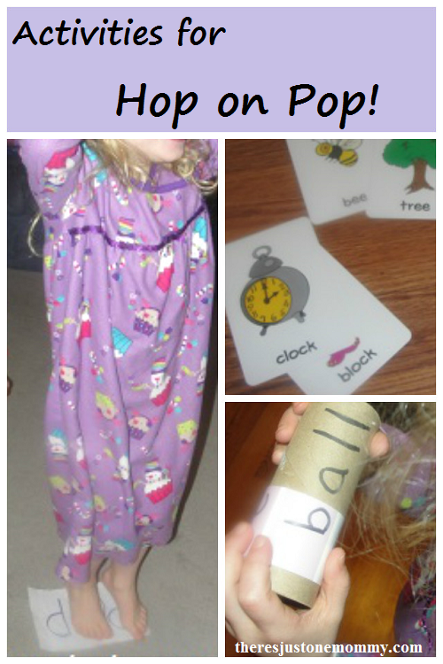 Hop on Pop activities -- fun activities to go with the Dr. Seuss book