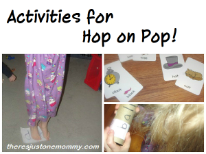 fun activities for the Dr. Seuss book Hop on Pop