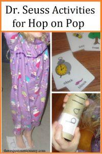 Hop on Pop activities for preschoolers