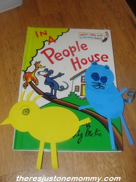 craft for Dr. Seuss book: In a People House