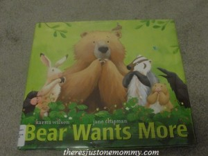 book activity for bear wants more