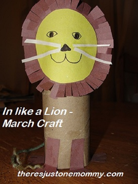 cardboard tube lion craft for kids