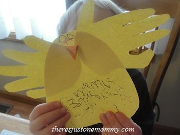 preschooler spring chick craft