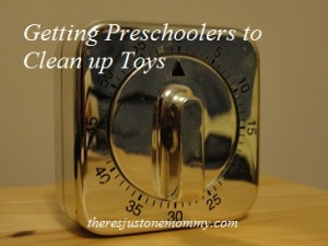 How to Get Preschoolers to Pick up Toys