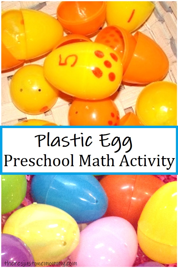 preschool math activity with plastic eggs