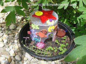 fairy house from recyclables