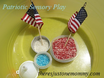Memorial Day sensory play