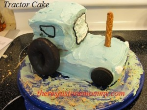 tractor cake via There's Just One Mommy