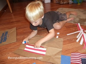4th of July flag craft