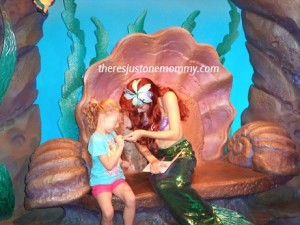 meeting Disney princesses at Magic Kingdom