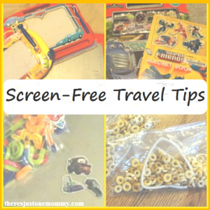 screen free travel with kids