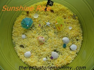 Sensory Play — Sunshine Rice