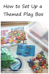 How to set up a themed play box -- great for engaging children on the autism spectrum