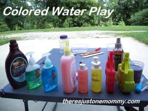 preschooler water play