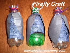 pop bottle lightning bug craft