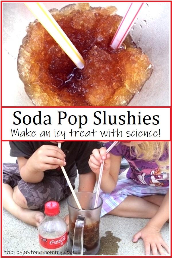 how to make homemade soda pop slushies using science