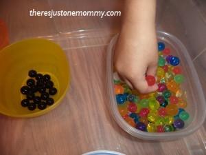 preschooler sorting activity