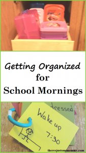 simple tips to get organized for school mornings -- get organized for back to school