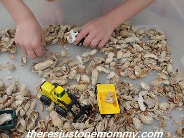 peanut shell sensory play